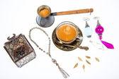 Arabic coffee in studio — Stock Photo