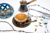 Arabic coffee in studio — Stock fotografie