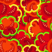 Tomato pattern — Stock Vector
