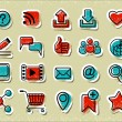 20 Internet Communication Stickers — Stock Vector #26470761