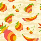 フルーツ パターン — ストックベクタ