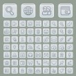 Stock Vector: Universal Web Icons Set Soft Grey Edition