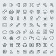 Universal Web Icons Outline Set  — Stockvektor