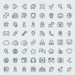 Universal Web Icons Outline Set — Stock Vector
