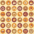 Social Networking Round Icons Set — Stock Vector
