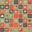 Square Pattern of Social Networking in Red Gray Colors — Stock Vector #30464699