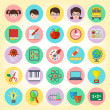 Vector de stock : School icons set