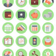 Financial and Business Icons Green Set — Stock Vector