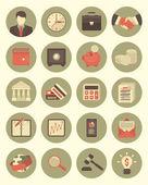 灰色的财务和业务图标集 — 图库矢量图片