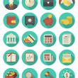 Financial and Business Icons Turquoise Set — Stock Vector