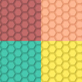 Flat Hexagonal Pattern — Stock Vector