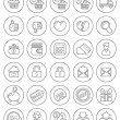 Stock Vector: Outline Shopping Icons