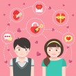 Stock Vector: Dating Concept