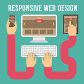 Responsive Web Design Connections — Stock Vector