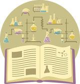 Textbook on Chemistry — Stock Vector
