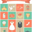 Wedding Icons Square Set 2 — Stock Vector