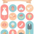 Wedding Icons Round Set 2 — Stock Vector