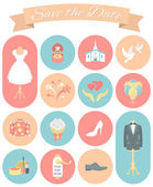 Wedding Icons Round Set 2 — Wektor stockowy
