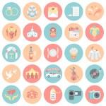 Wedding Organization Round Icons — Stock Vector #44540775