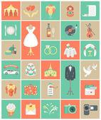 Wedding Organization Icons — Stock Vector