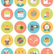 Kids Birthday Party Round Icons — Stock Vector #44947323