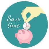 Guarde el concepto de tiempo — Vector de stock