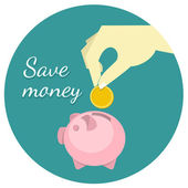 Save Money Concept — Stock Vector