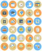 Traveling Icons Round Set — Stock Vector