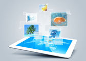 Tablet-technologie-hintergrund — Stockfoto