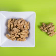 Nuts background food — Stock Photo