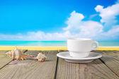 Coffee beach photo — Stock Photo