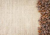 coffee beans juta — Stock Photo