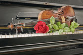 Music instrument composition  — Stockfoto