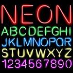 Font neon light vector — Stock Vector #49010635