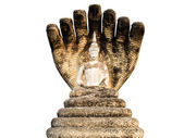 Old Seven heads naga Buddha — Stock Photo