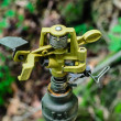Metal automatic water sprinkler — Foto Stock