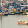 Stock Photo: View of the Cargo ship