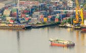 View of the Cargo ship — ストック写真