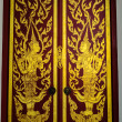 View of Door Traditional Thai style painting art — Stock Photo