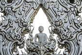 Buddha statue at Wat Rong Khun, Chiang Rai Province, Thailand — Stock Photo
