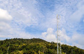 Single Mobile Tower in Mountain — Stock Photo