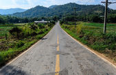 Cracked Mountain Road in Thiland. — Stock Photo
