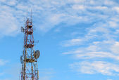 Telecommunication Towers with Blue Sky — Stock Photo