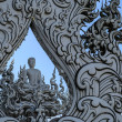 Stock Photo: BuddhStatue at Wat Rong Khun, Chiang Rai Province, Thailand