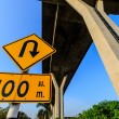 Stockfoto: U Turn under Bhumibol Bridge in Thailand