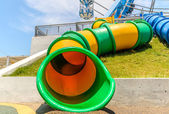 Ferris Wheel in The Santorini Park, Thailand Newest an Amusement — Stock Photo