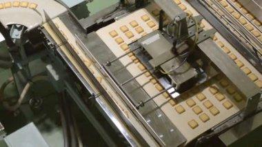 ビスケット工場出荷時の輸送機 — ストックビデオ