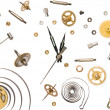 Clock parts — Stock Photo