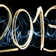 Stock Photo: 2013 light painting