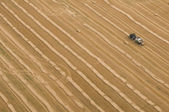 Aerial view of a tractor — Stock Photo